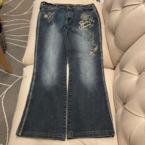 Poca Jeans Jeans with Attitude Flower embroidery